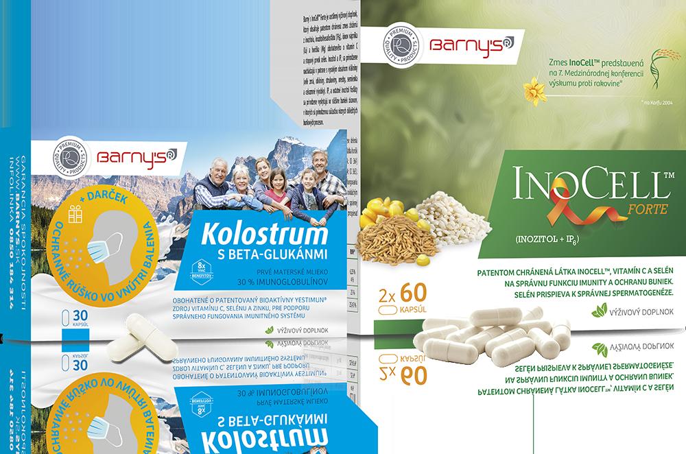 Kolostrum s beta-glukánmi a Inocell forte